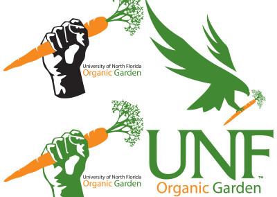 UNF Organic Garden Logo